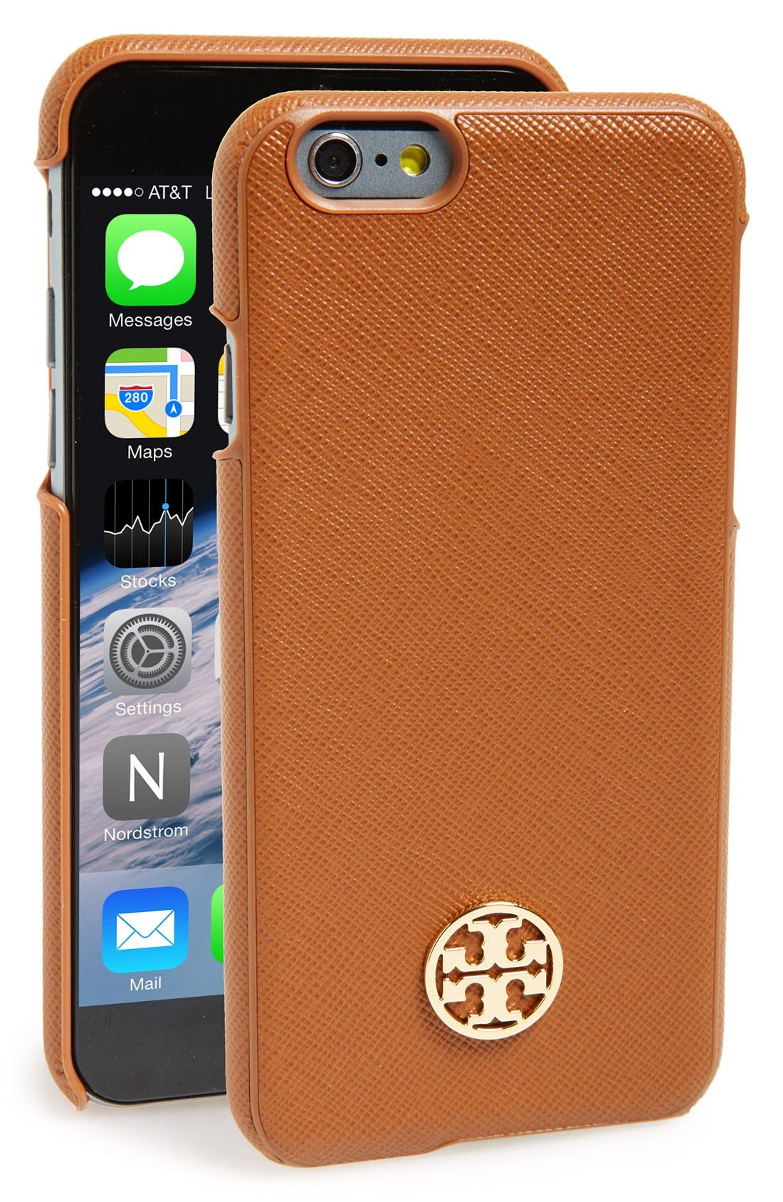 Alternate Image 1 Selected - Tory Burch 'Robinson' Saffiano Leather iPhone 6 Case
