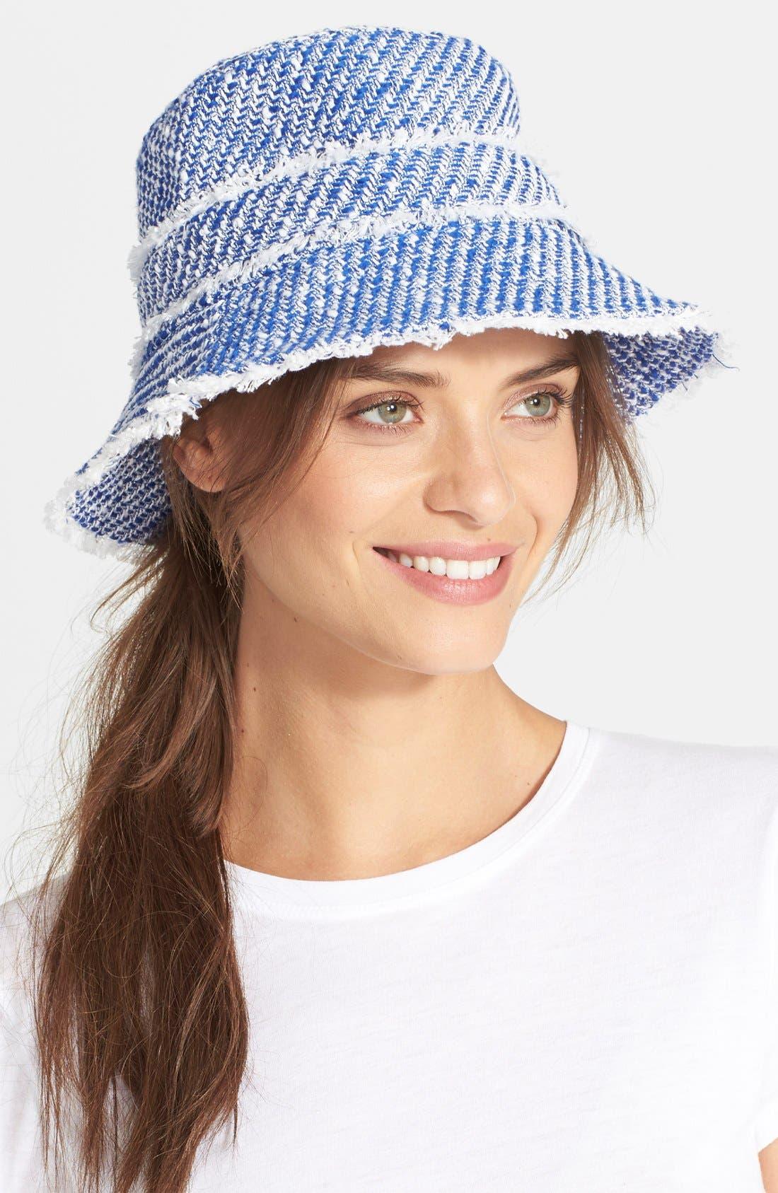 Alternate Image 1 Selected - kate spade new york graphic tweed bucket hat
