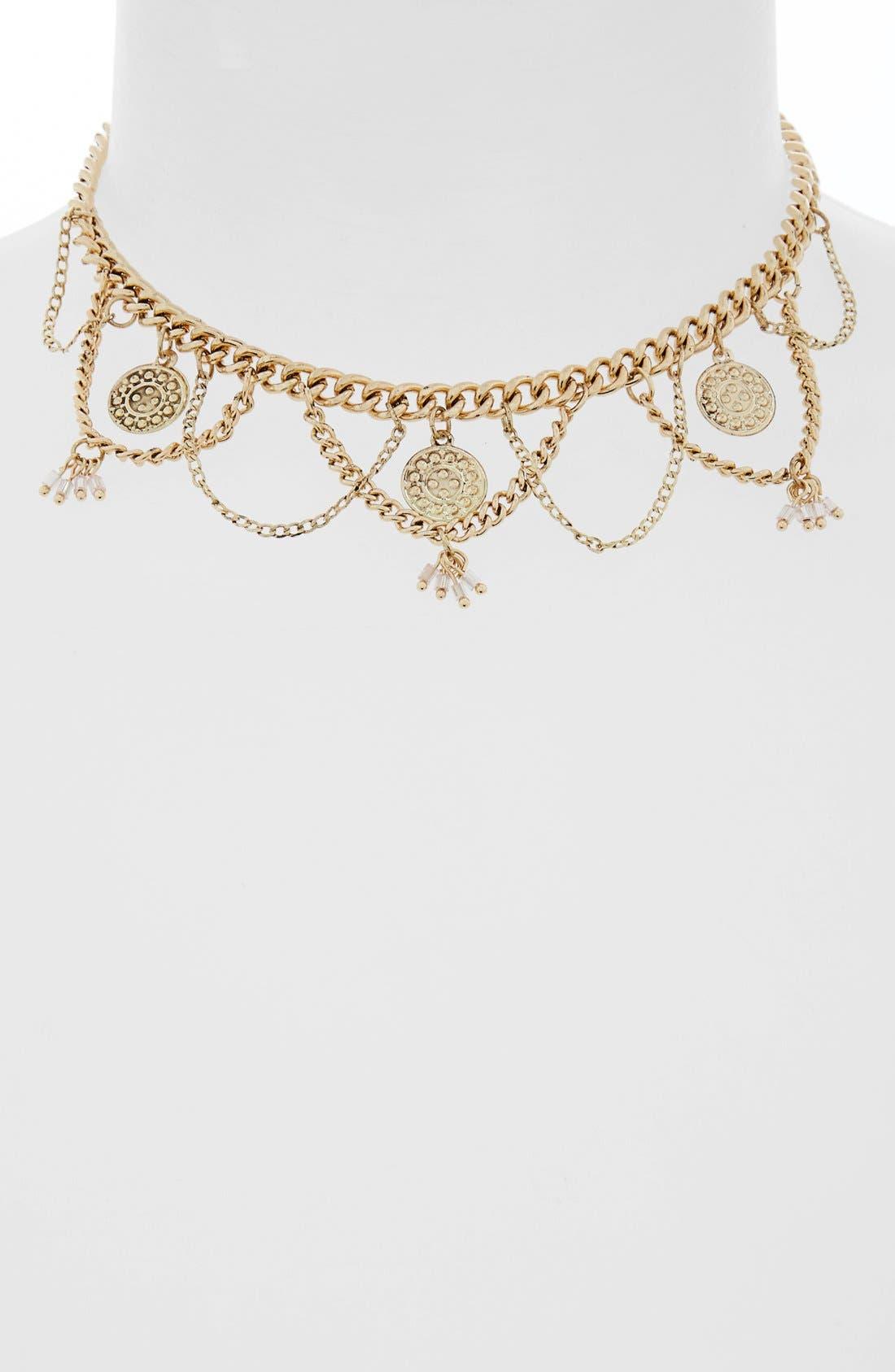 Alternate Image 2  - Topshop Coin Collar Necklace