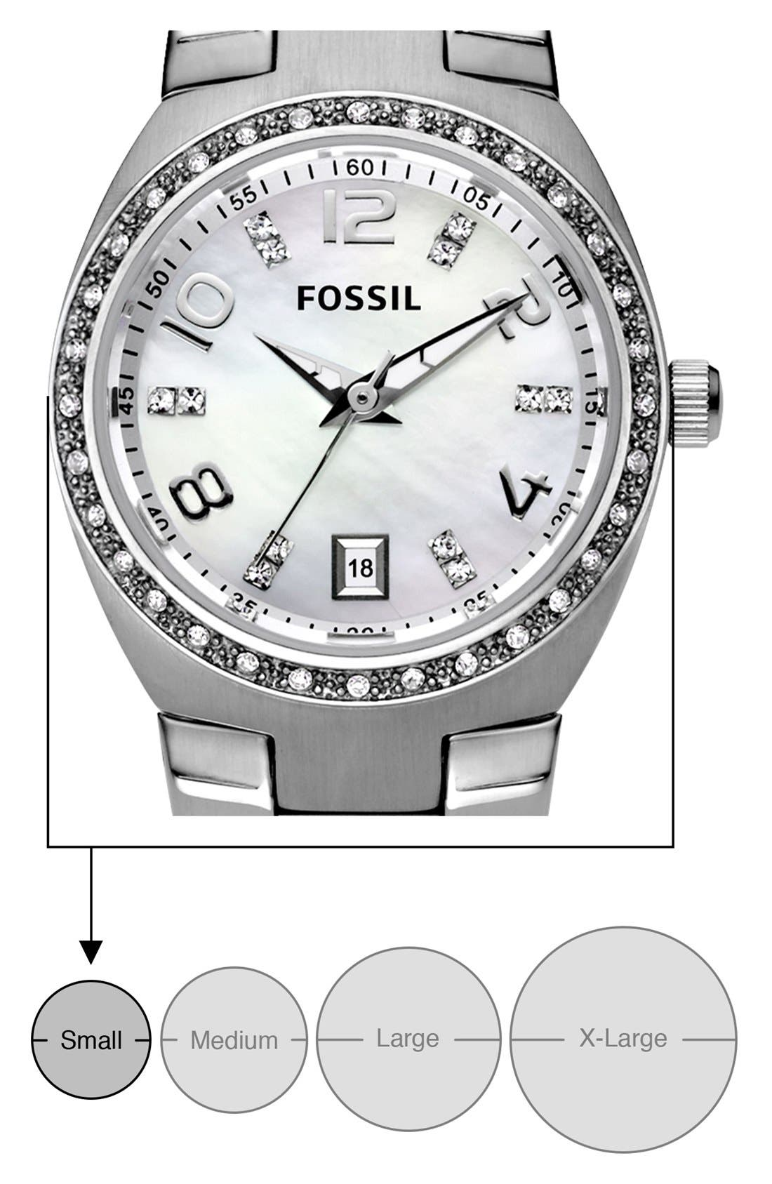 Alternate Image 5  - Fossil Crystal Dial Watch, 28mm