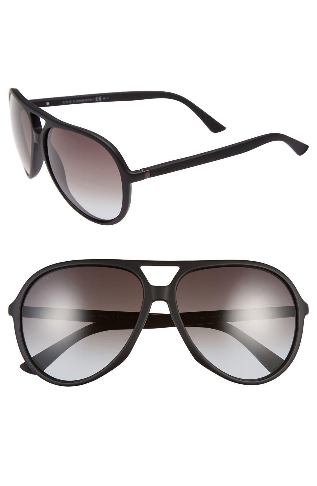 Main Image - Gucci 61mm Aviator Sunglasses