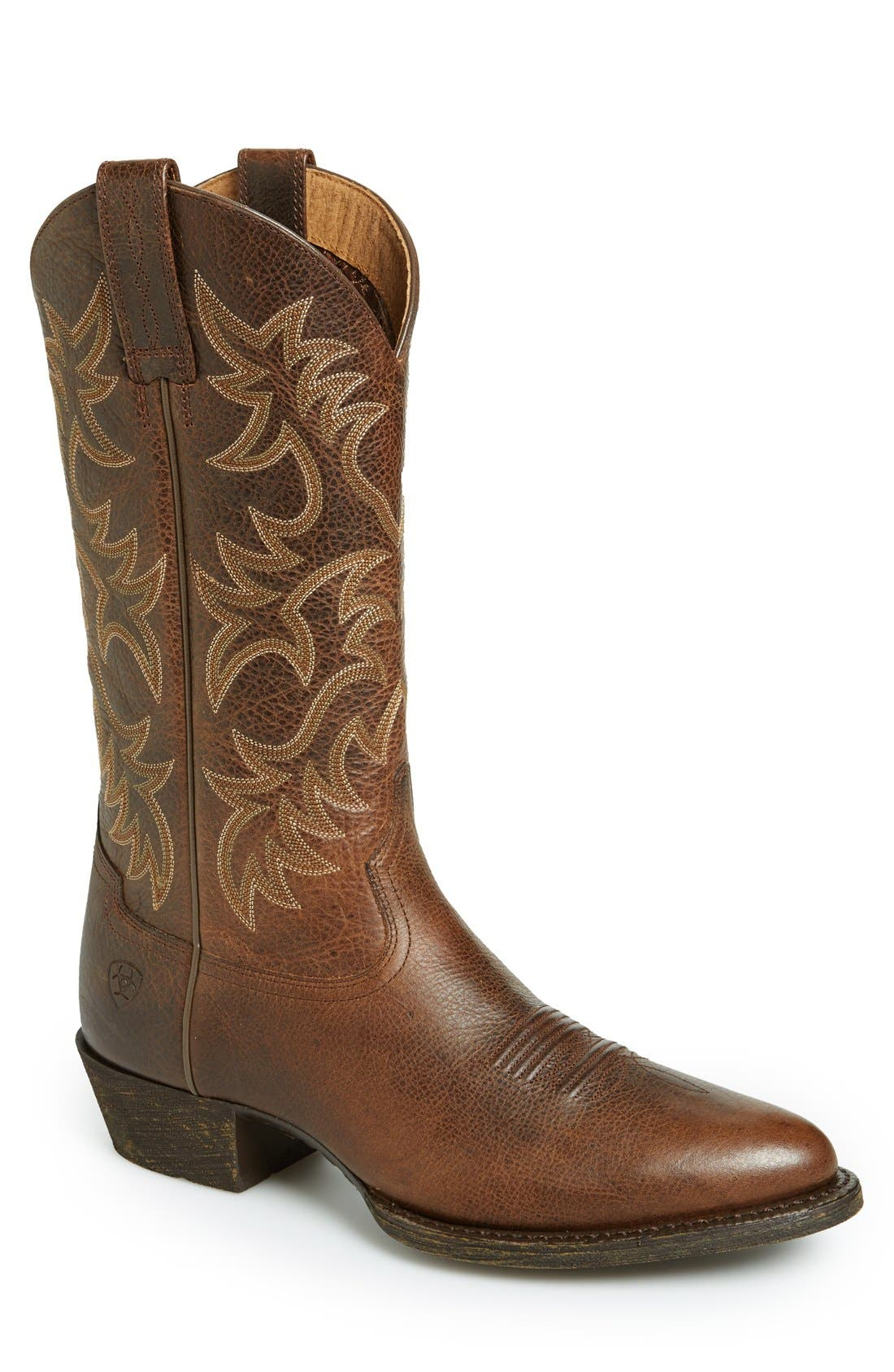 Alternate Image 1 Selected - Ariat 'Heritage R-Toe' Leather Cowboy Boot (Men)