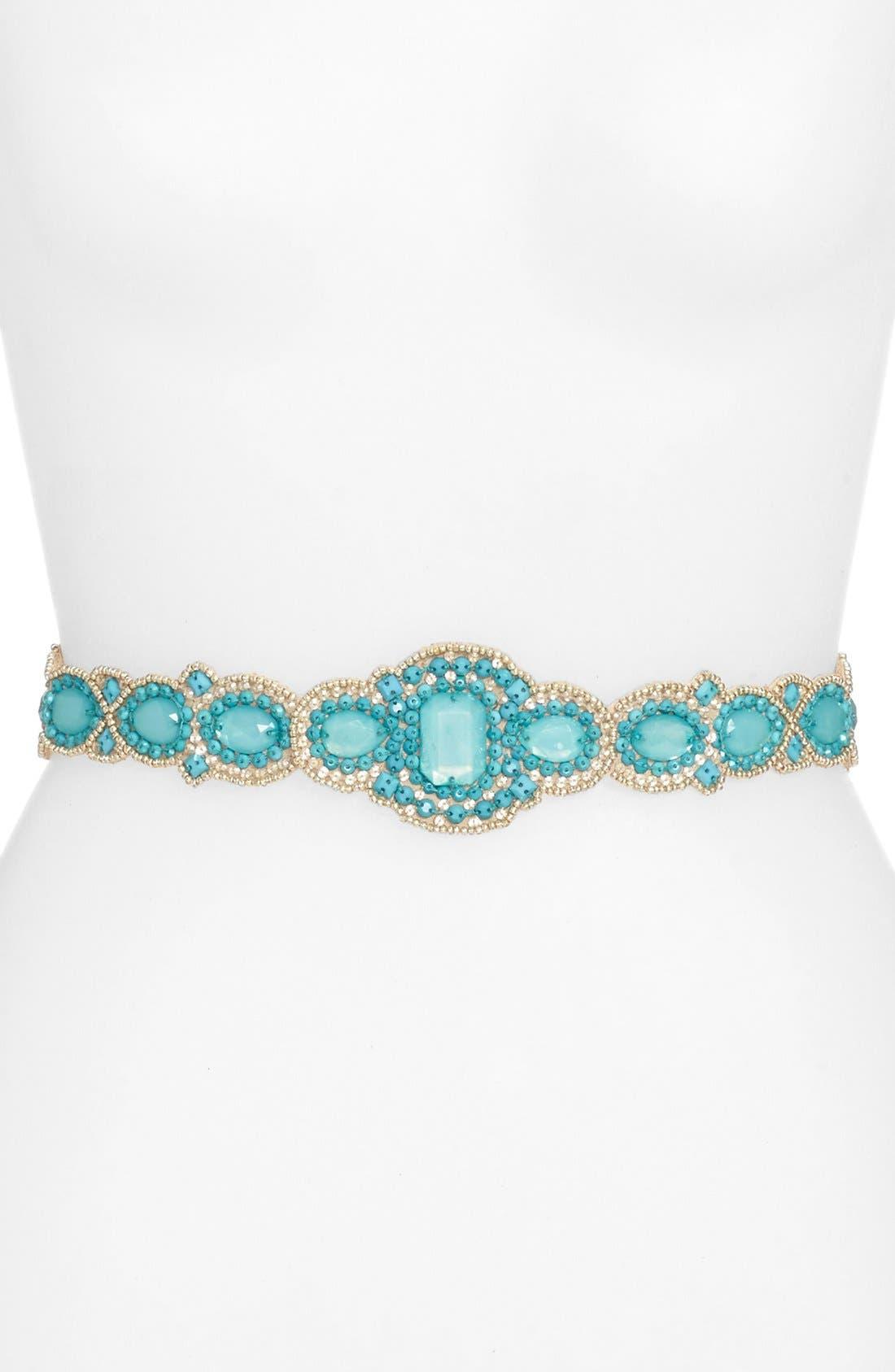 Main Image - Glint 'Casablanca' Beaded Stretch Belt