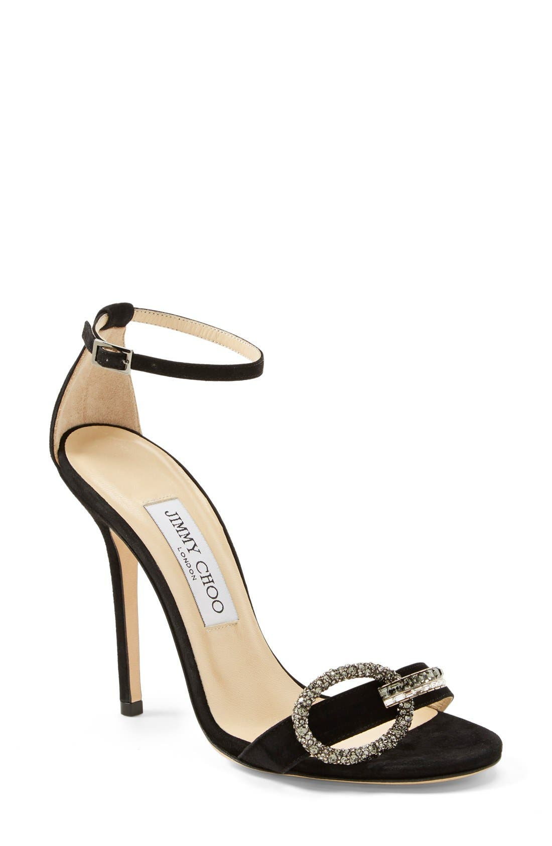 Alternate Image 1 Selected - Jimmy Choo 'Tamsyn' Suede Sandal (Women)