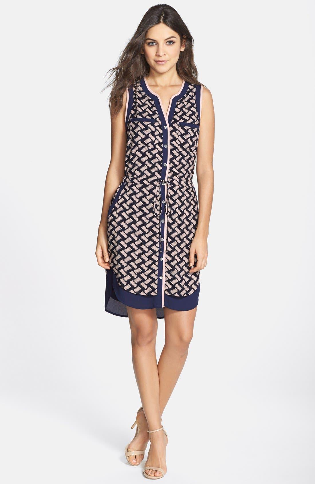 Alternate Image 3  - GREYLIN 'Osten' Print Back Cutout Sleeveless Shirtdress