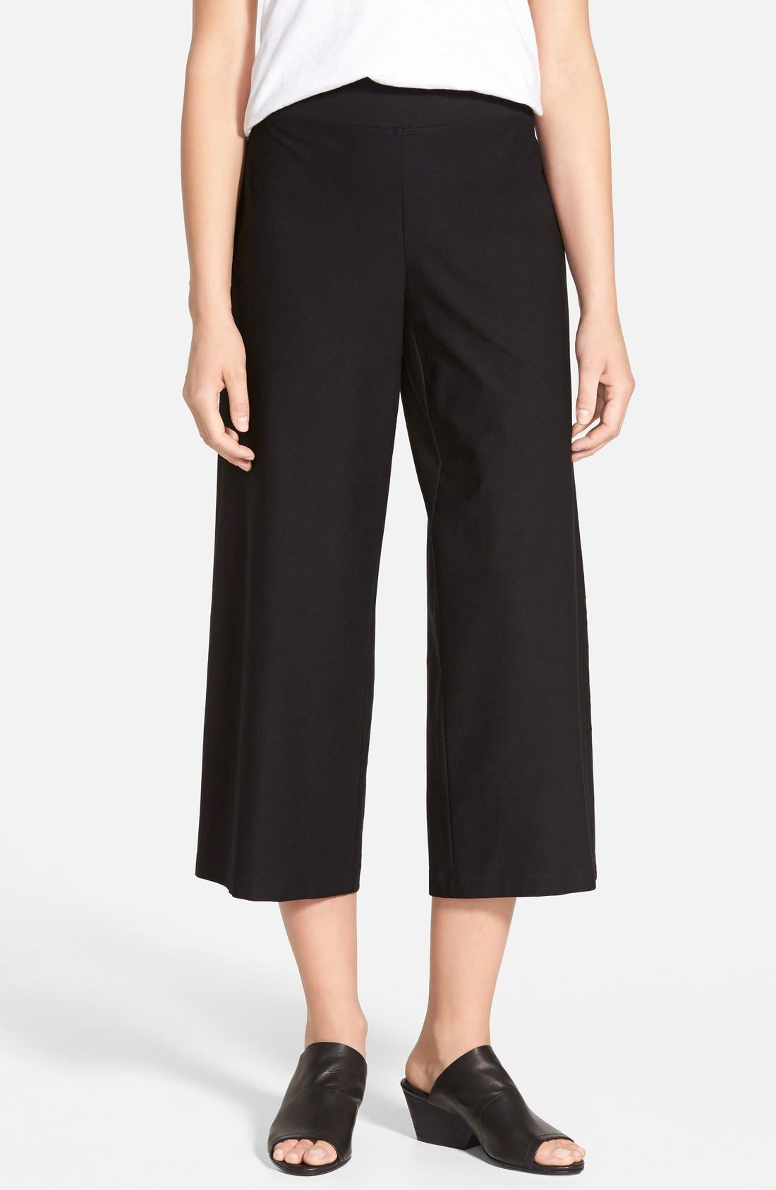 Eileen Fisher Wide Leg Crop Pants (Regular & Petite) (Online Only)