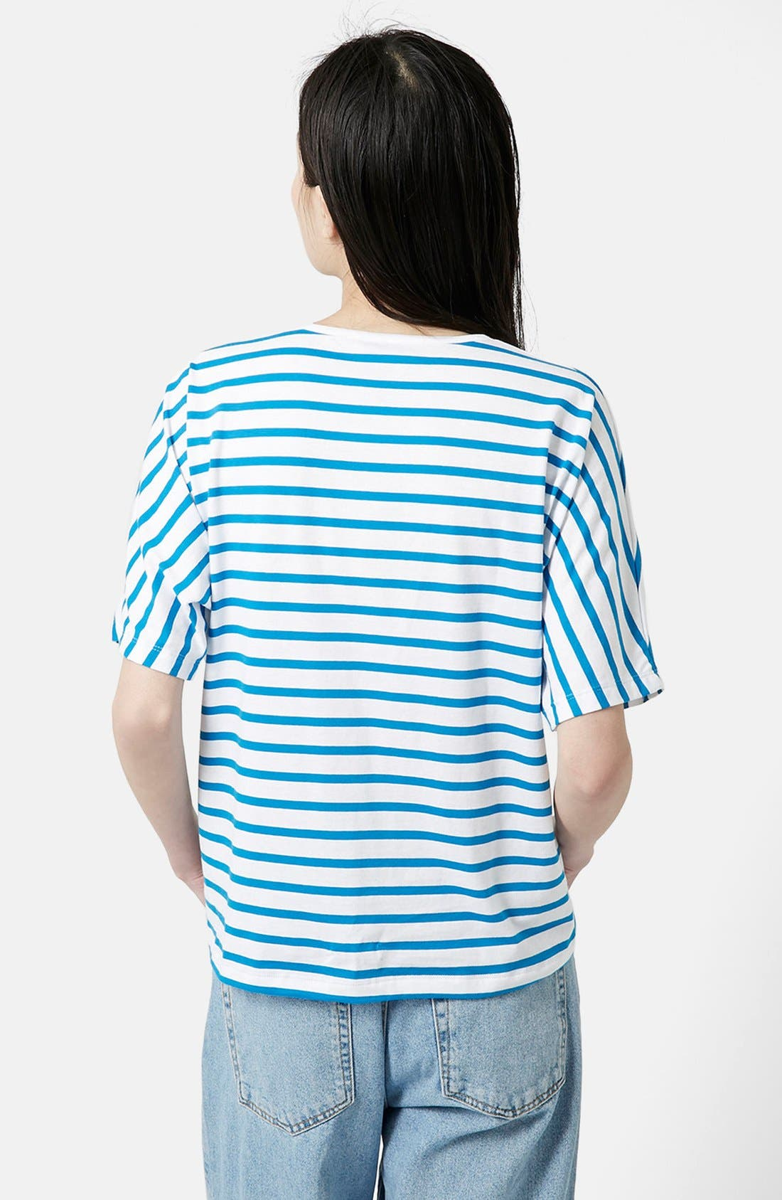 Alternate Image 2  - Topshop Boutique Seamless Stripe Tee