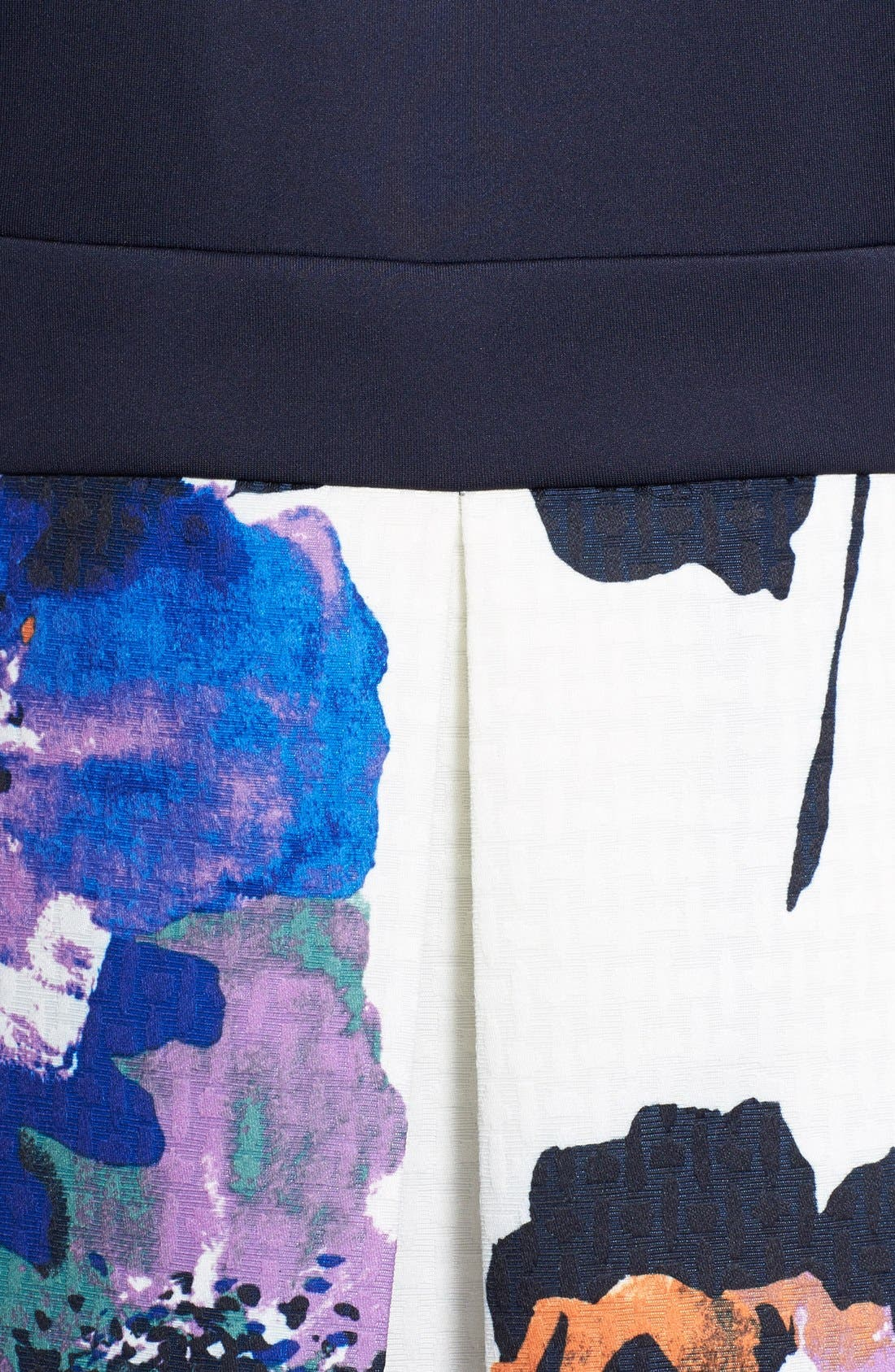 Alternate Image 4  - Gabby Skye Mixed Media Fit & Flare Dress (Plus Size)