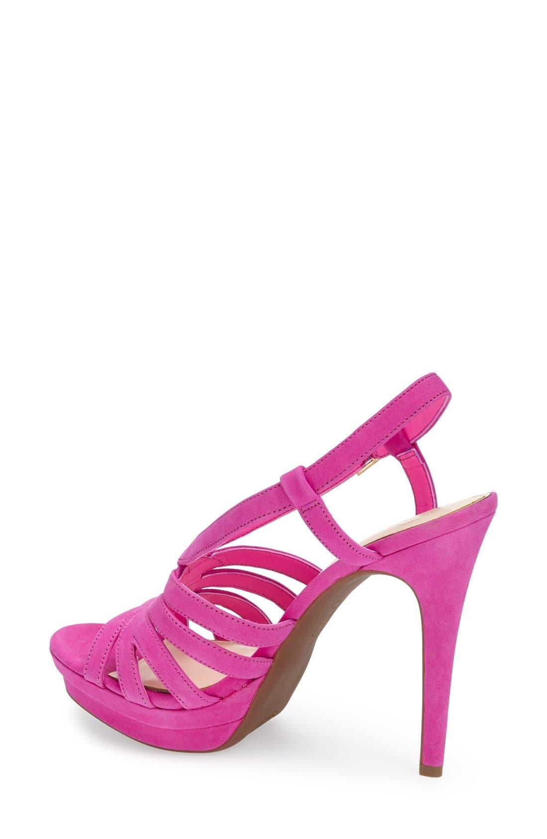 Alternate Image 2  - Jessica Simpson 'Peace' Suede Peep Toe Platform Sandal (Women)