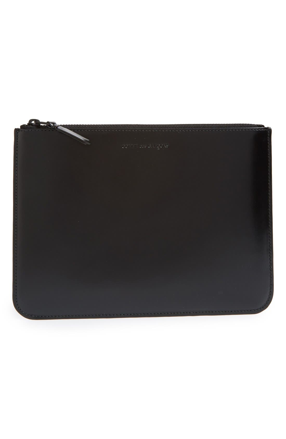 Alternate Image 1 Selected - Comme des Garçons Top Zip Pouch Wallet
