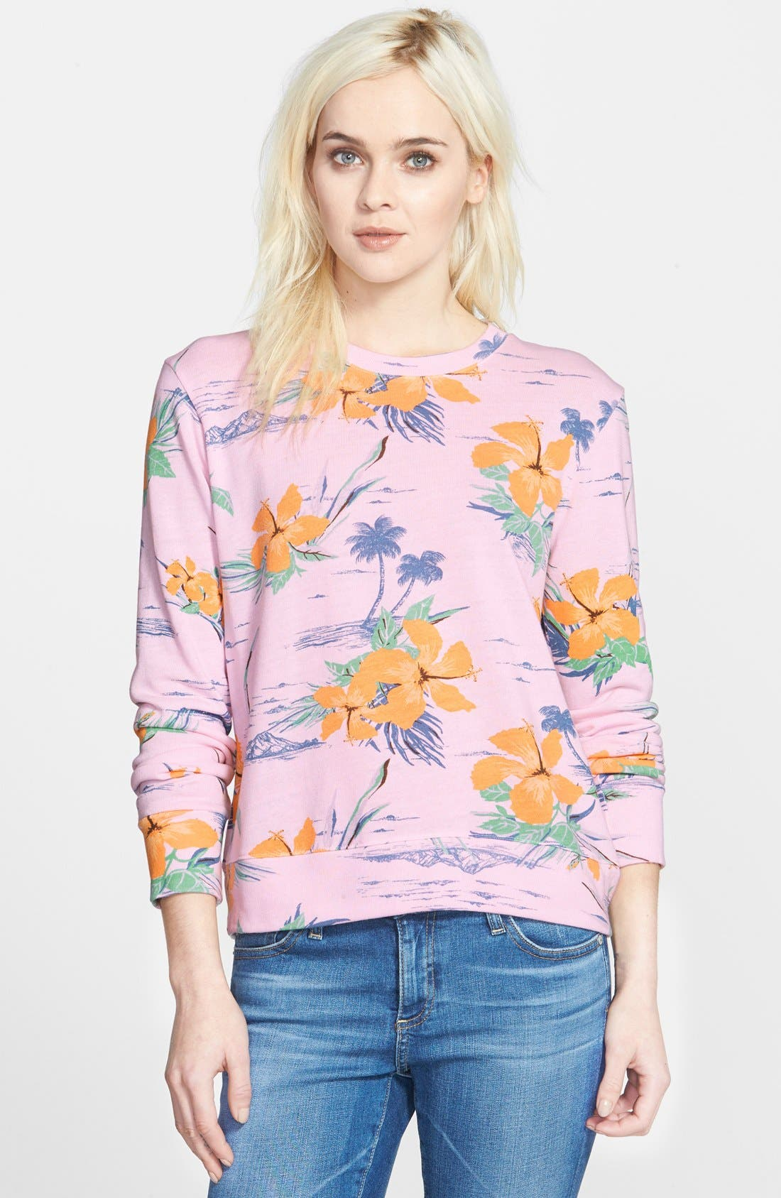 Alternate Image 1 Selected - Sundry Floral Print Sweatshirt
