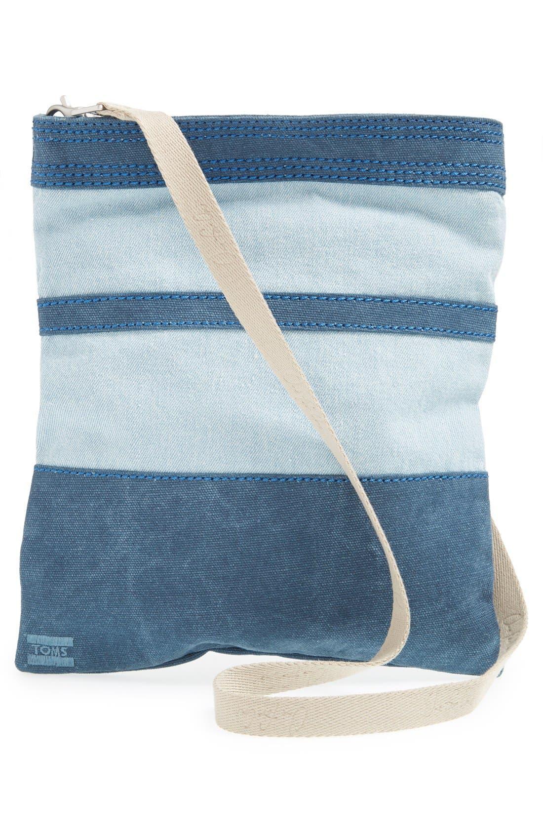 Alternate Image 3  - TOMS Stripe Denim Crossbody Bag