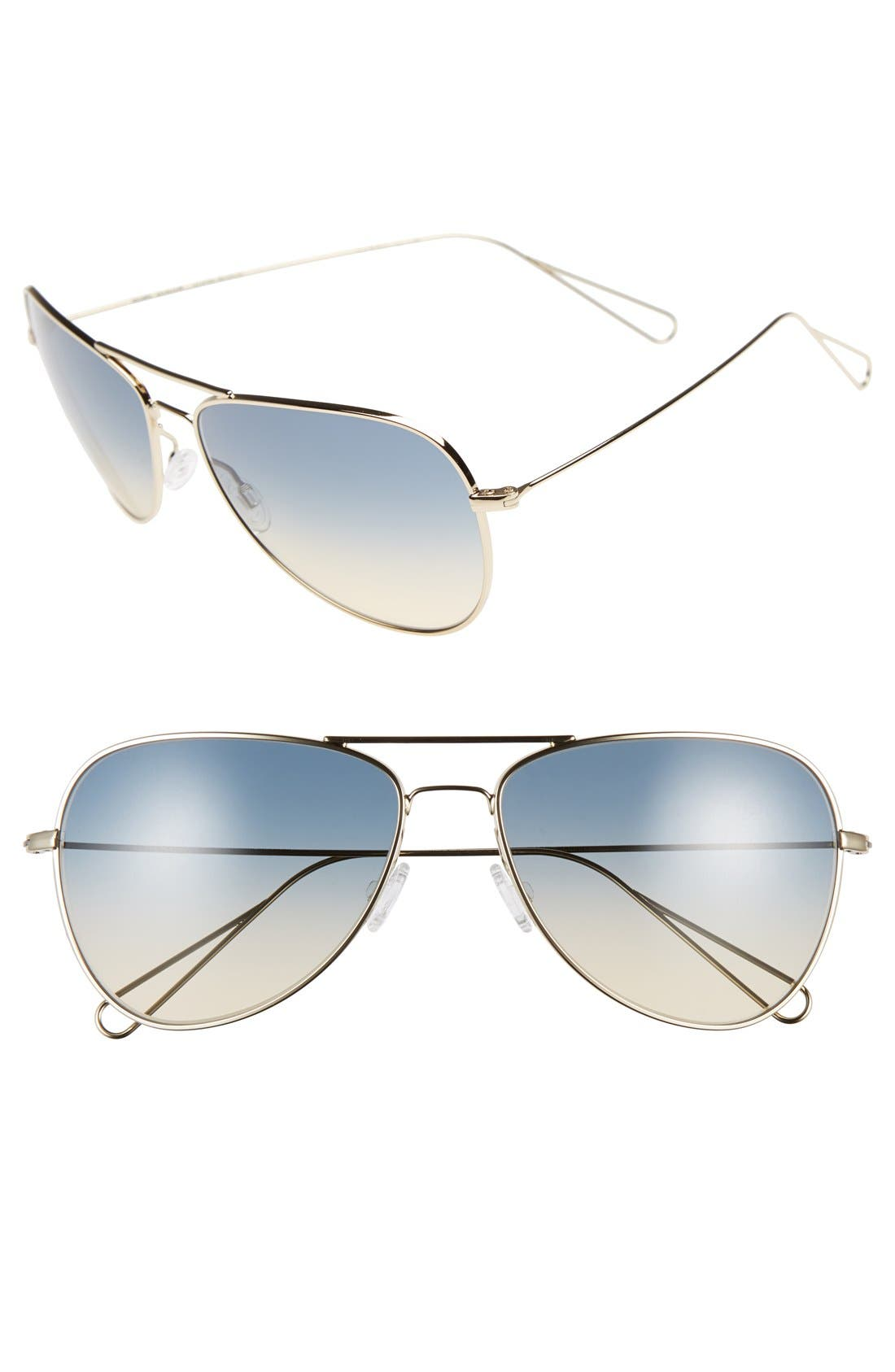 Alternate Image 1 Selected - Oliver Peoples x Isabel Marant 'Matt' 60mm Aviator Sunglasses