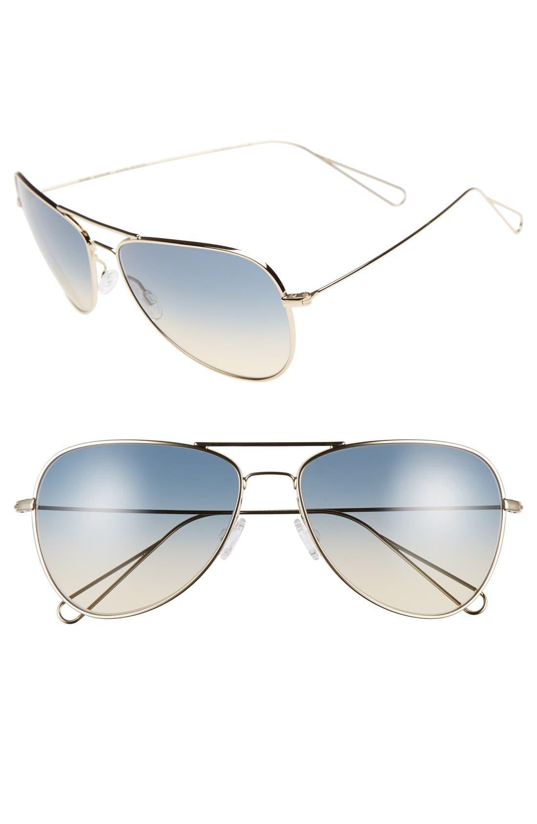 Main Image - Oliver Peoples x Isabel Marant 'Matt' 60mm Aviator Sunglasses