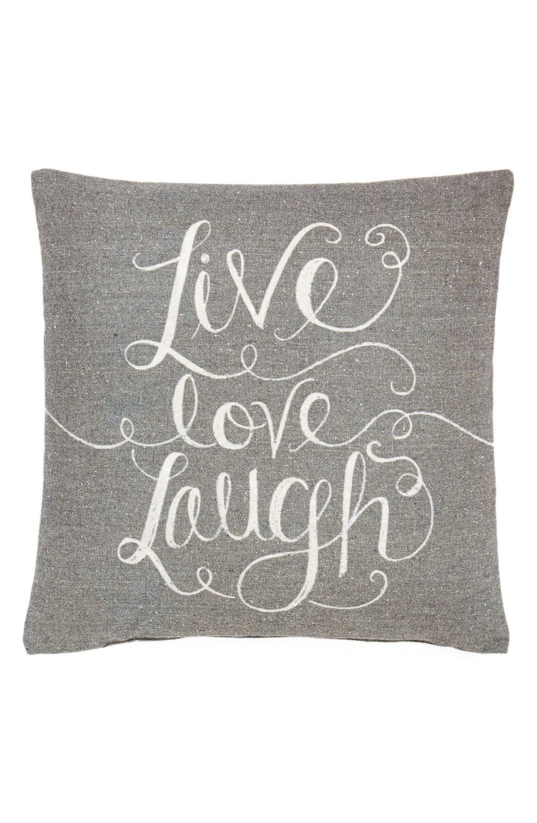 Alternate Image 1 Selected - Primitives by Kathy 'Live, Love, Laugh' Pillow