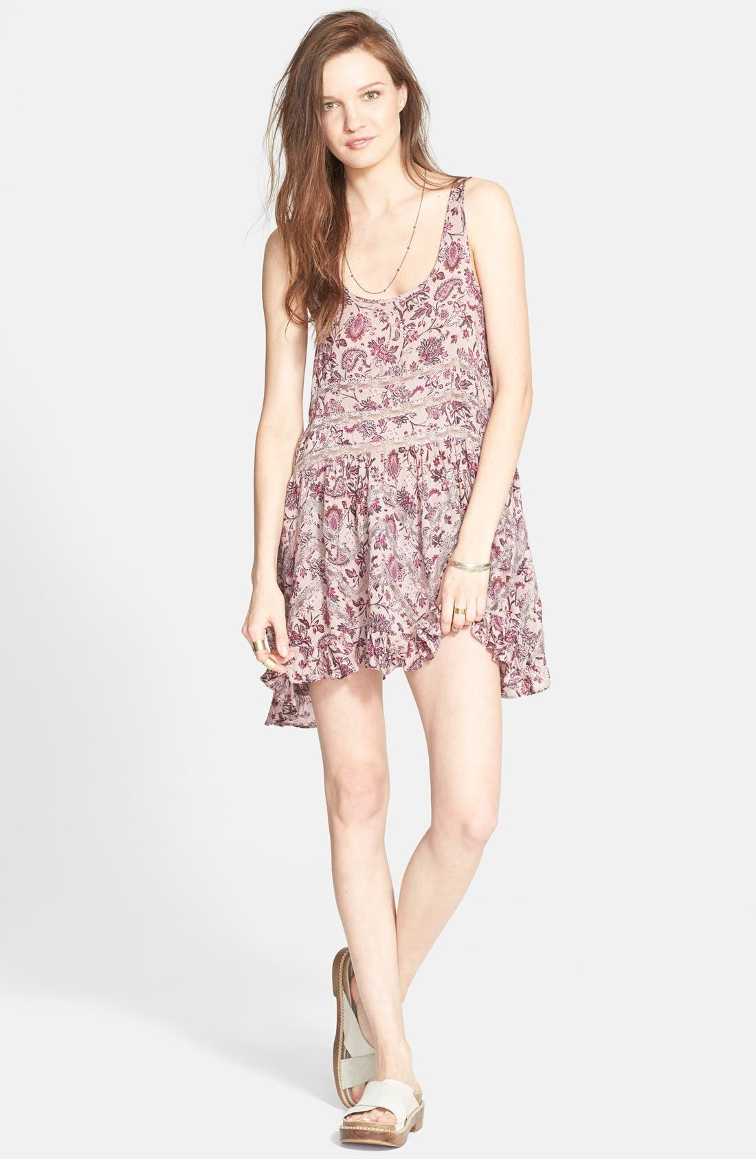 Alternate Image 1 Selected - Free People Lace Inset Trapeze Dress