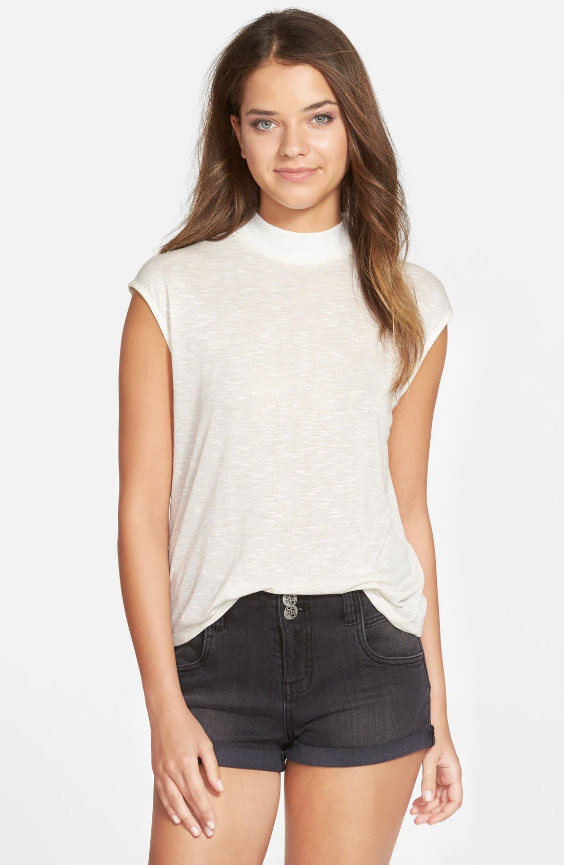 Alternate Image 1 Selected - Haute Society Cotton Muscle Tee (Juniors)