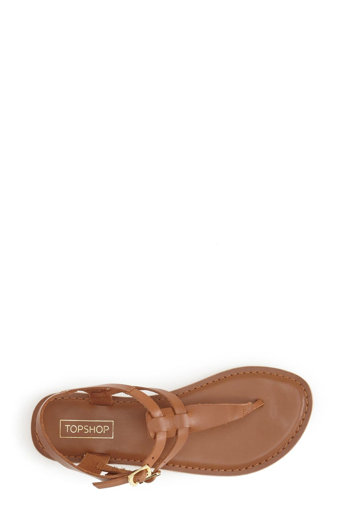 Alternate Image 3  - Topshop 'Harbour' Strappy Leather Thong Sandal (Women)