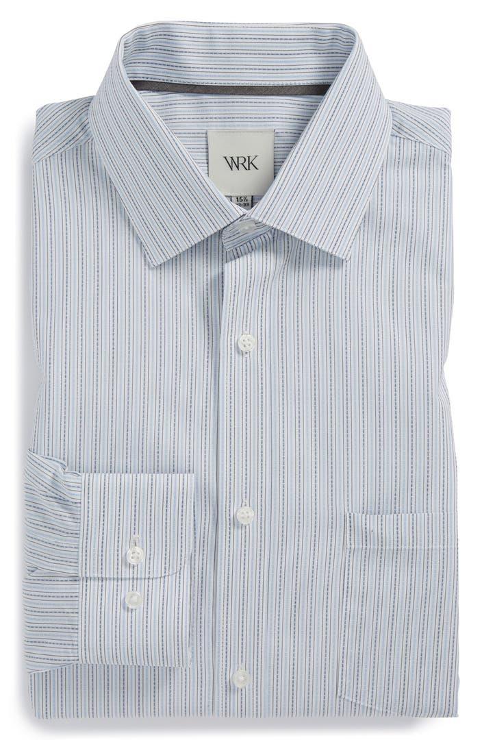 W r k extra trim fit dobby stripe dress shirt nordstrom for Extra trim fit dress shirt