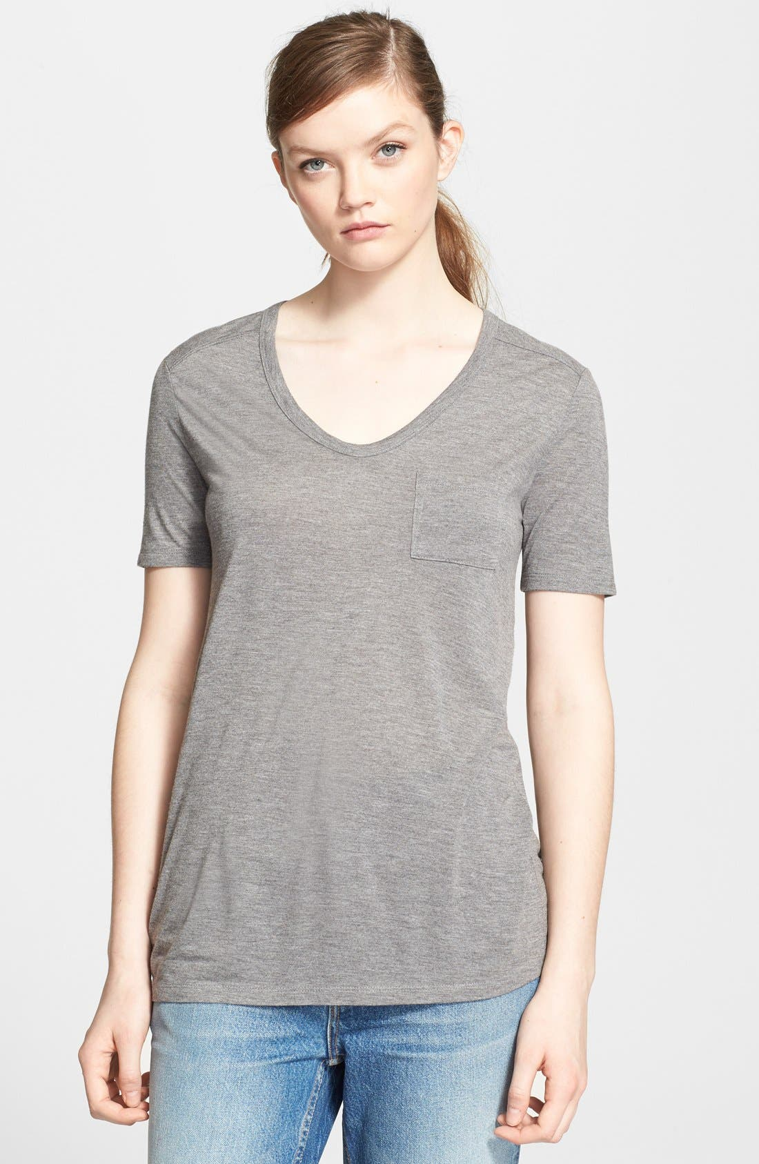 Alternate Image 1 Selected - T by Alexander Wang Pocket Tee