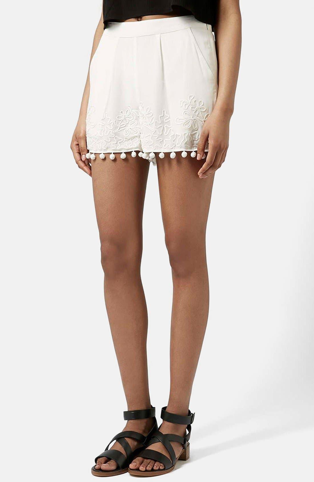 Main Image - Topshop Pompom Shorts