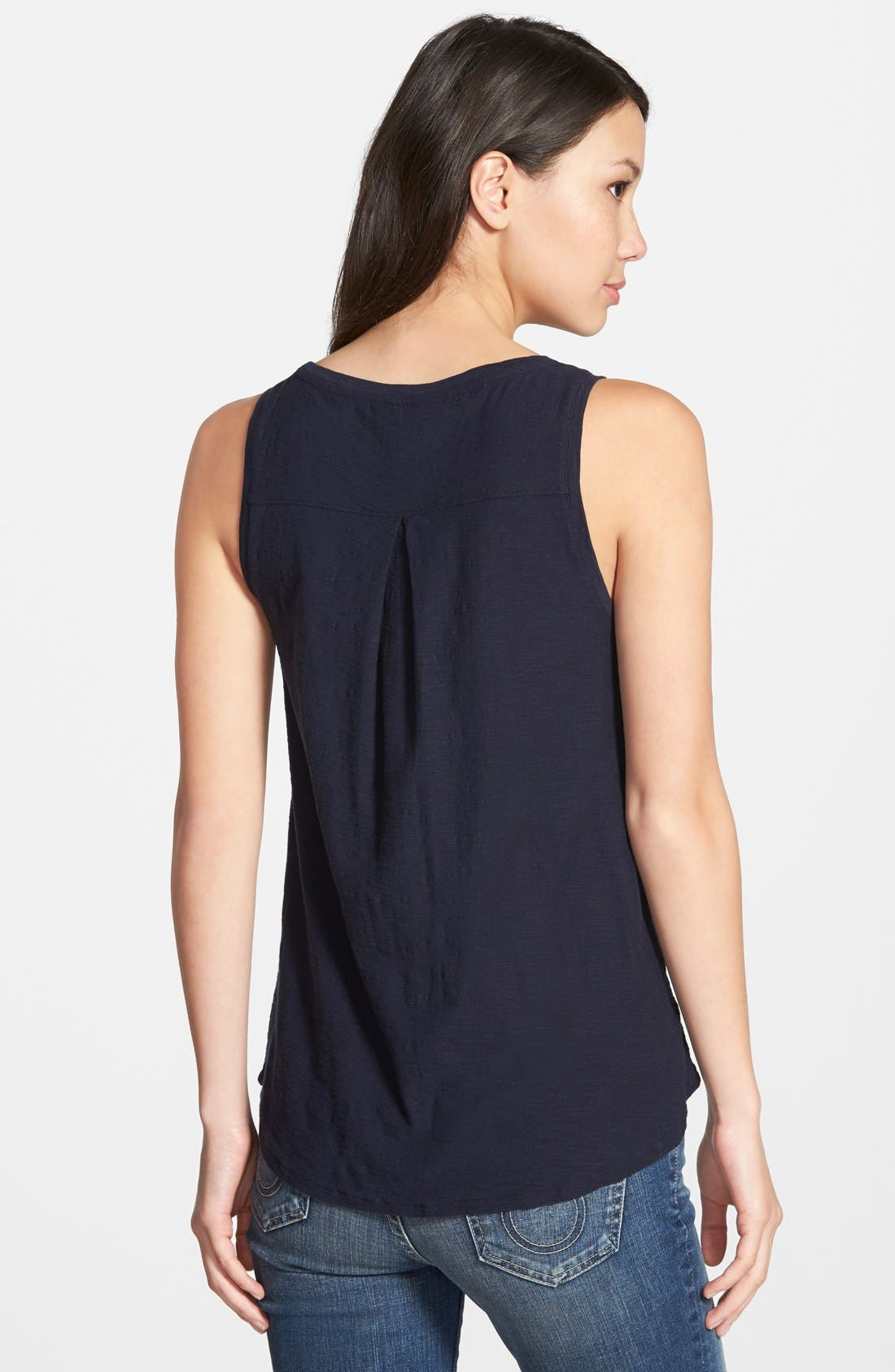 Alternate Image 2  - Lucky Brand Embroidered Elephant Tank