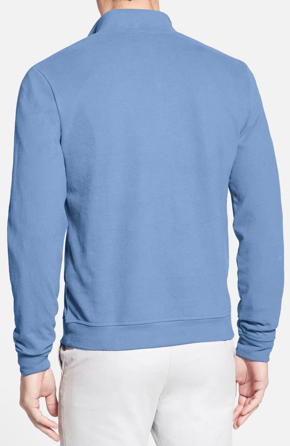 Alternate Image 2  - Nordstrom Quarter Zip Cotton Pullover