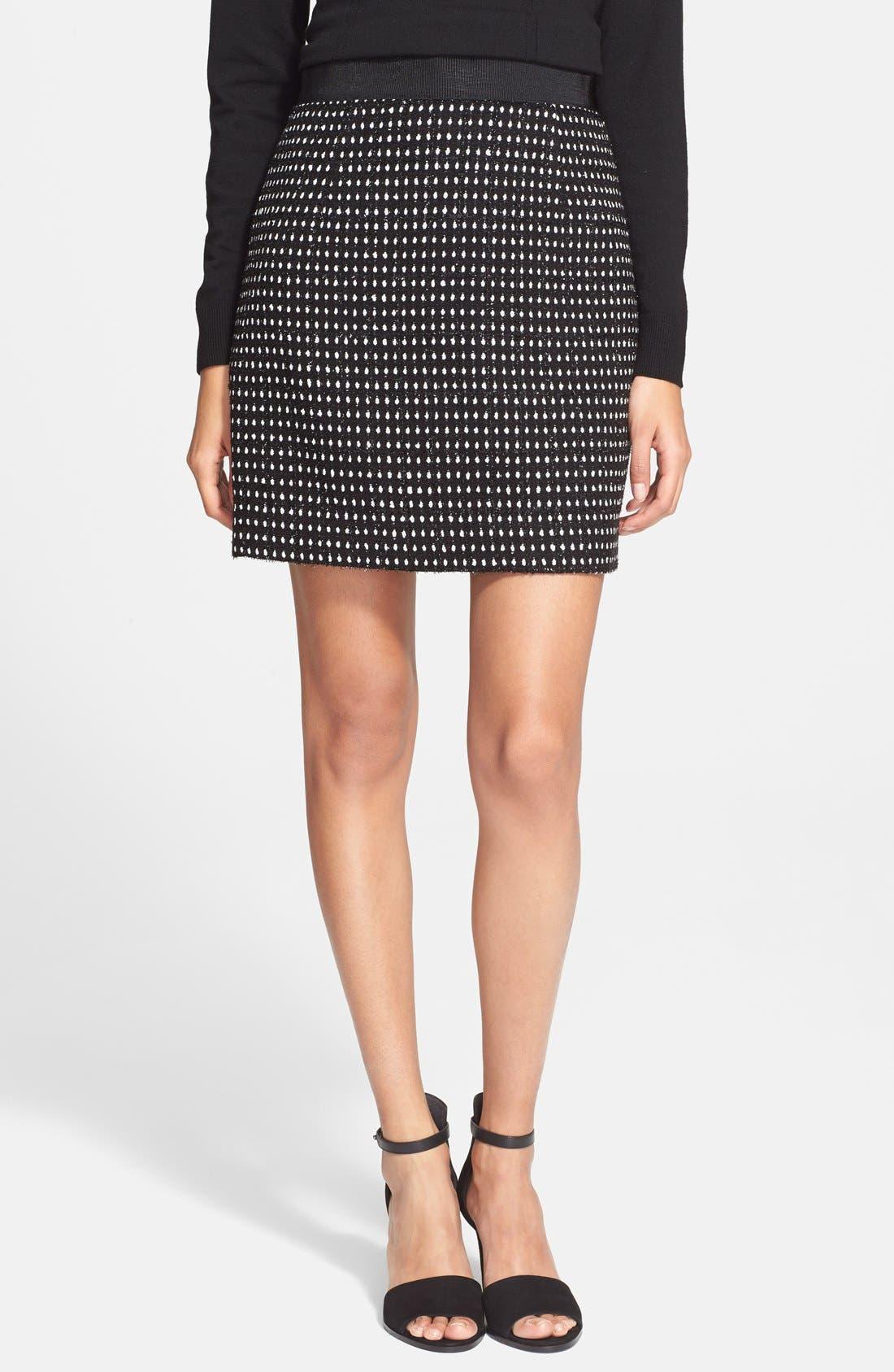 Main Image - Milly Dot Tweed Miniskirt
