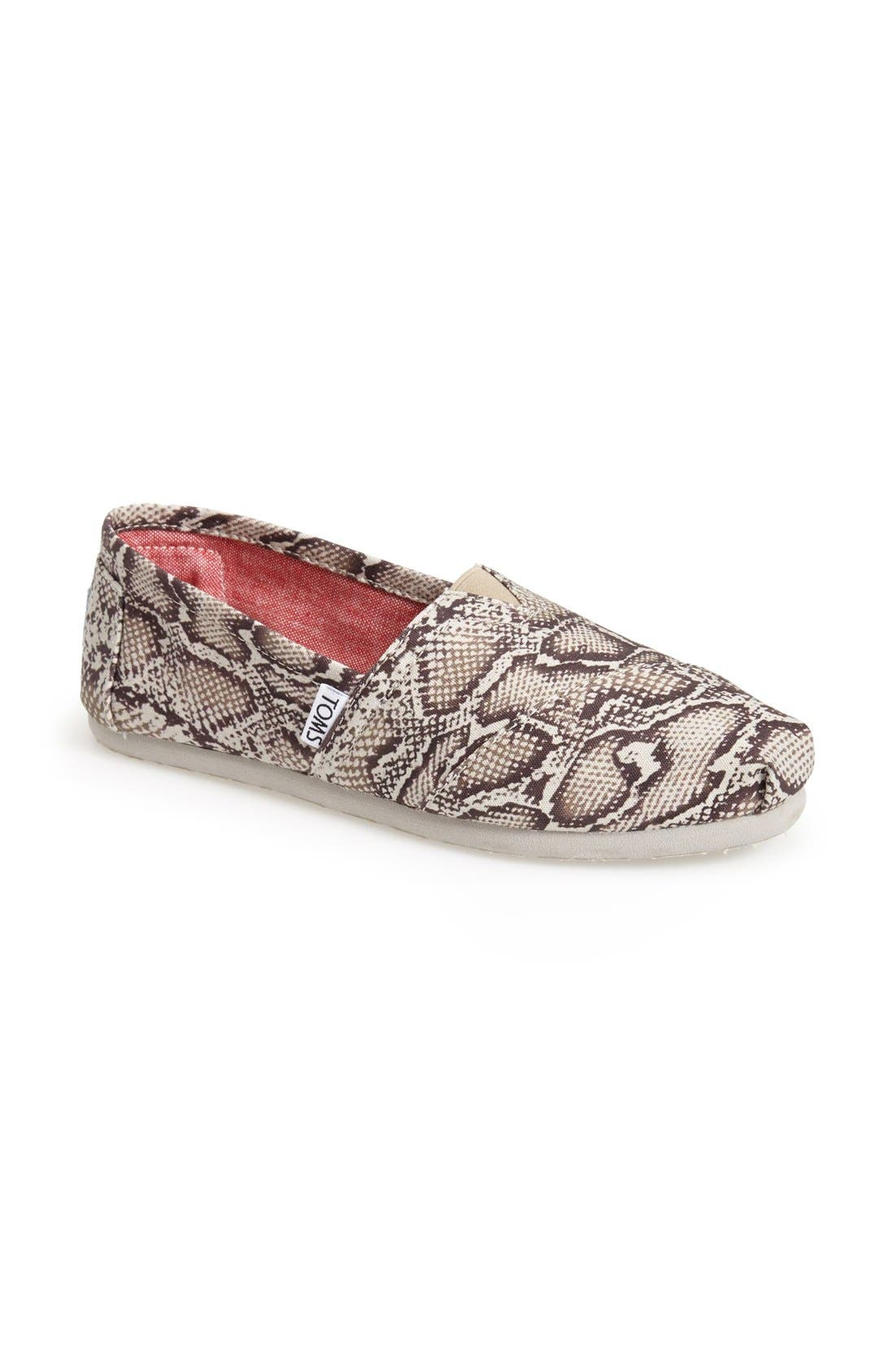 Alternate Image 1 Selected - TOMS 'Classic - Snake' Slip-On (Women)
