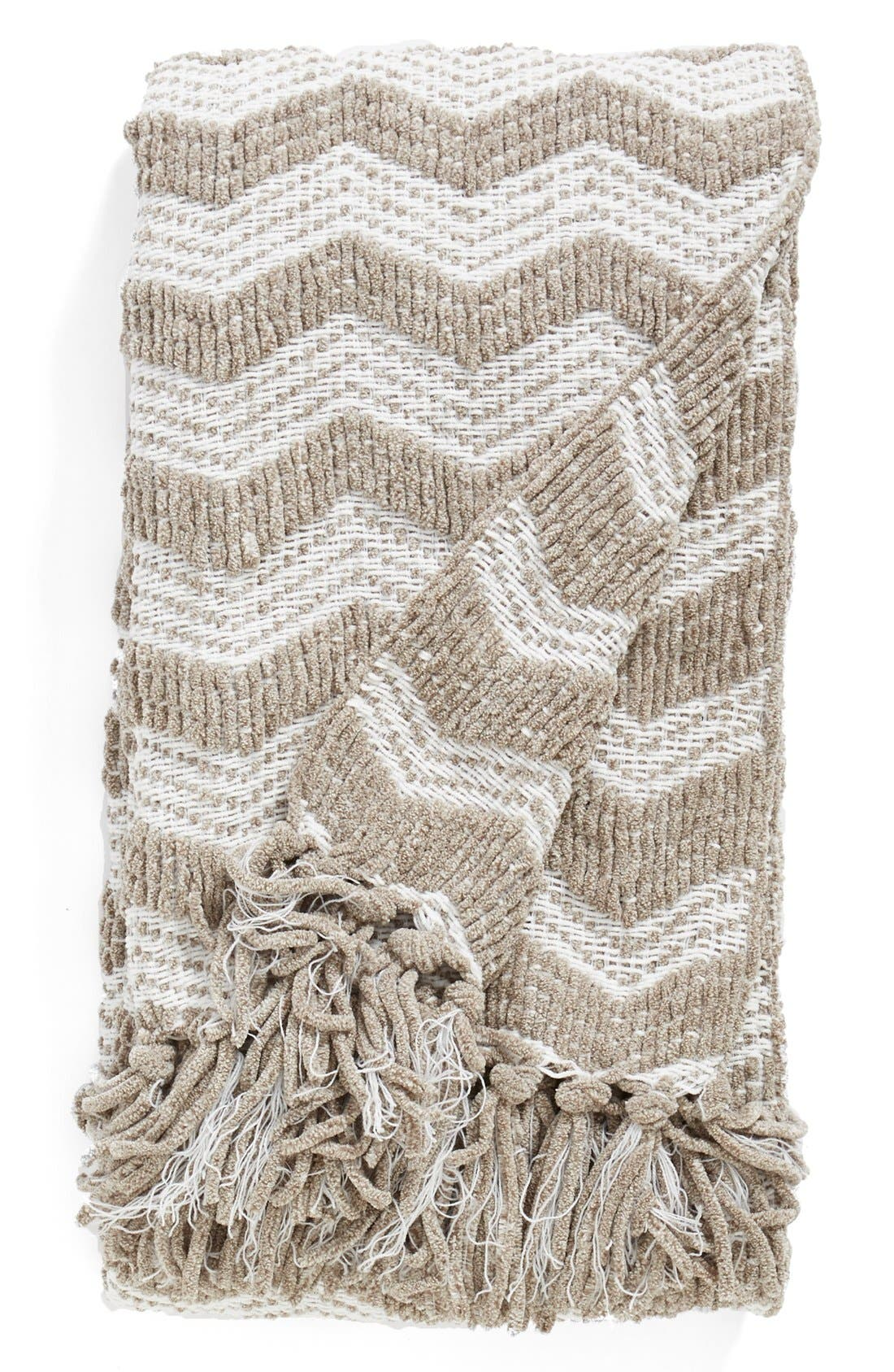 Alternate Image 1 Selected - Nordstrom at Home Chenille Chevron Throw