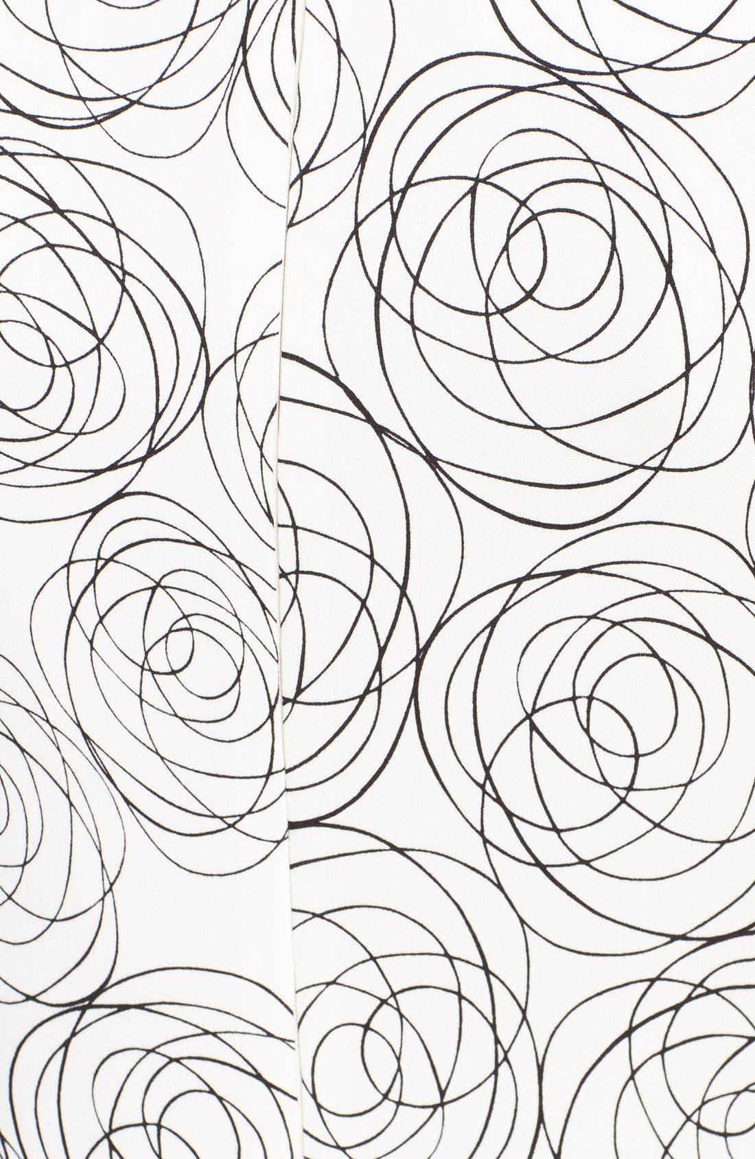Alternate Image 3  - Oscar de la Renta Rose Print Asymmetrical Georgette Blouse