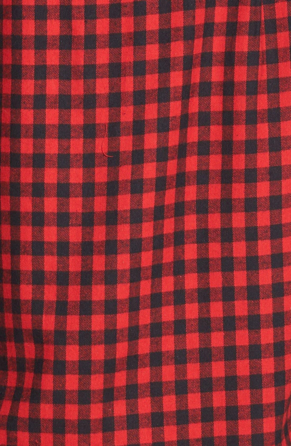Alternate Image 4  - Mimi Chica Plaid Cotton Flannel Shirt (Juniors)