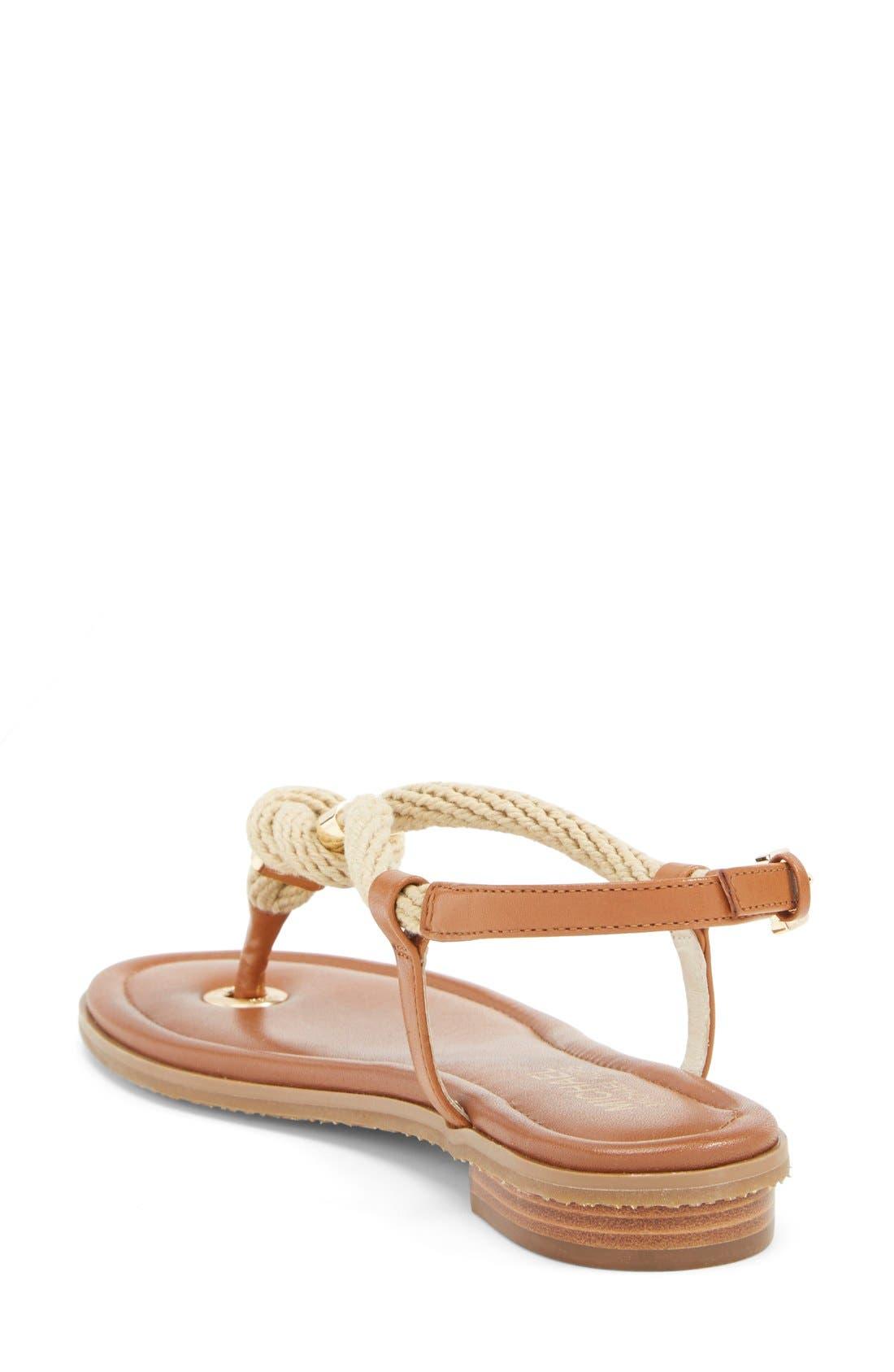 Alternate Image 2  - MICHAEL Michael Kors 'Holly' Leather Thong Sandal (Women)