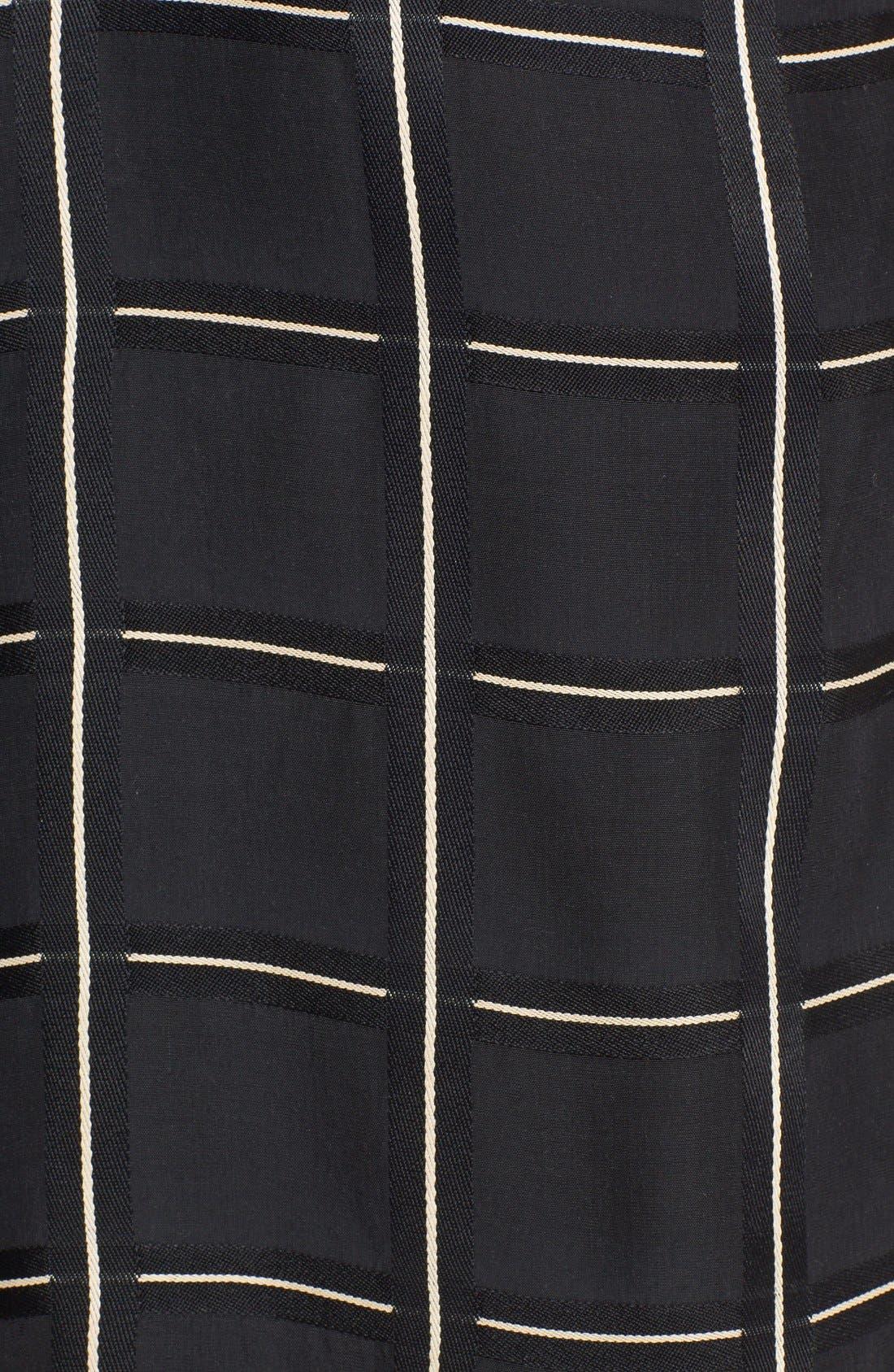 Alternate Image 3  - Lanvin Side Knot Windowpane Woven Dress