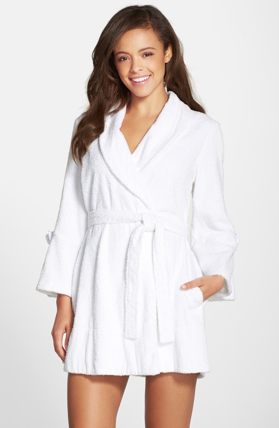 Alternate Image 2  - Betsey Johnson Terry Honeymoon Robe