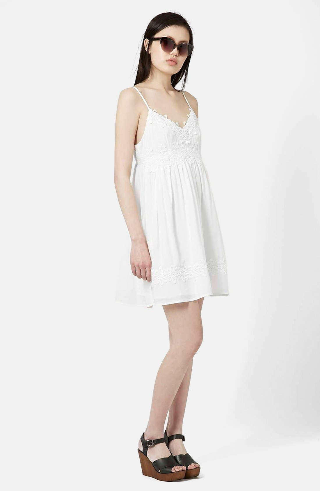 Alternate Image 7  - Topshop Strappy Appliqué Babydoll Dress
