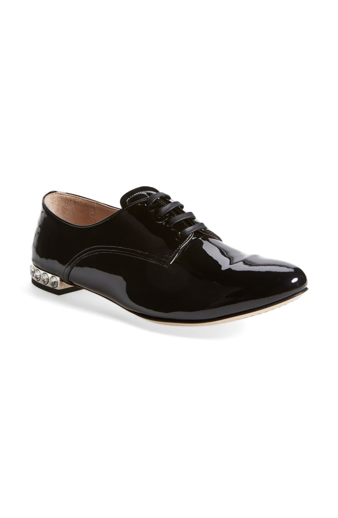 Alternate Image 1 Selected - Miu Miu Patent Crystal Oxford