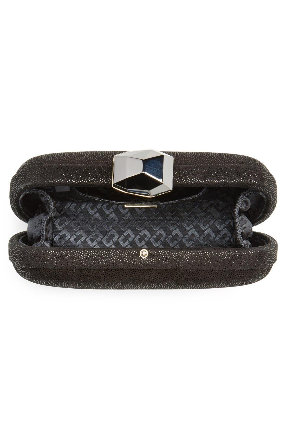 Alternate Image 4  - Diane von Furstenberg 'Powerstone Sparkle Caviar' Leather Minaudiere