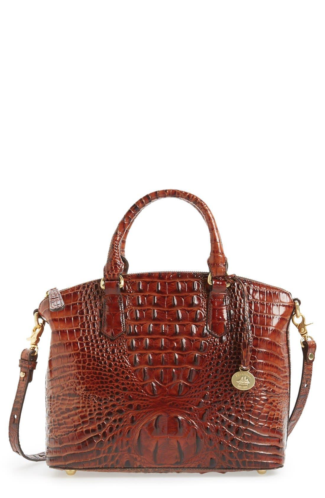 Alternate Image 1 Selected - Brahmin 'Medium Duxbury' Croc Embossed Leather Satchel