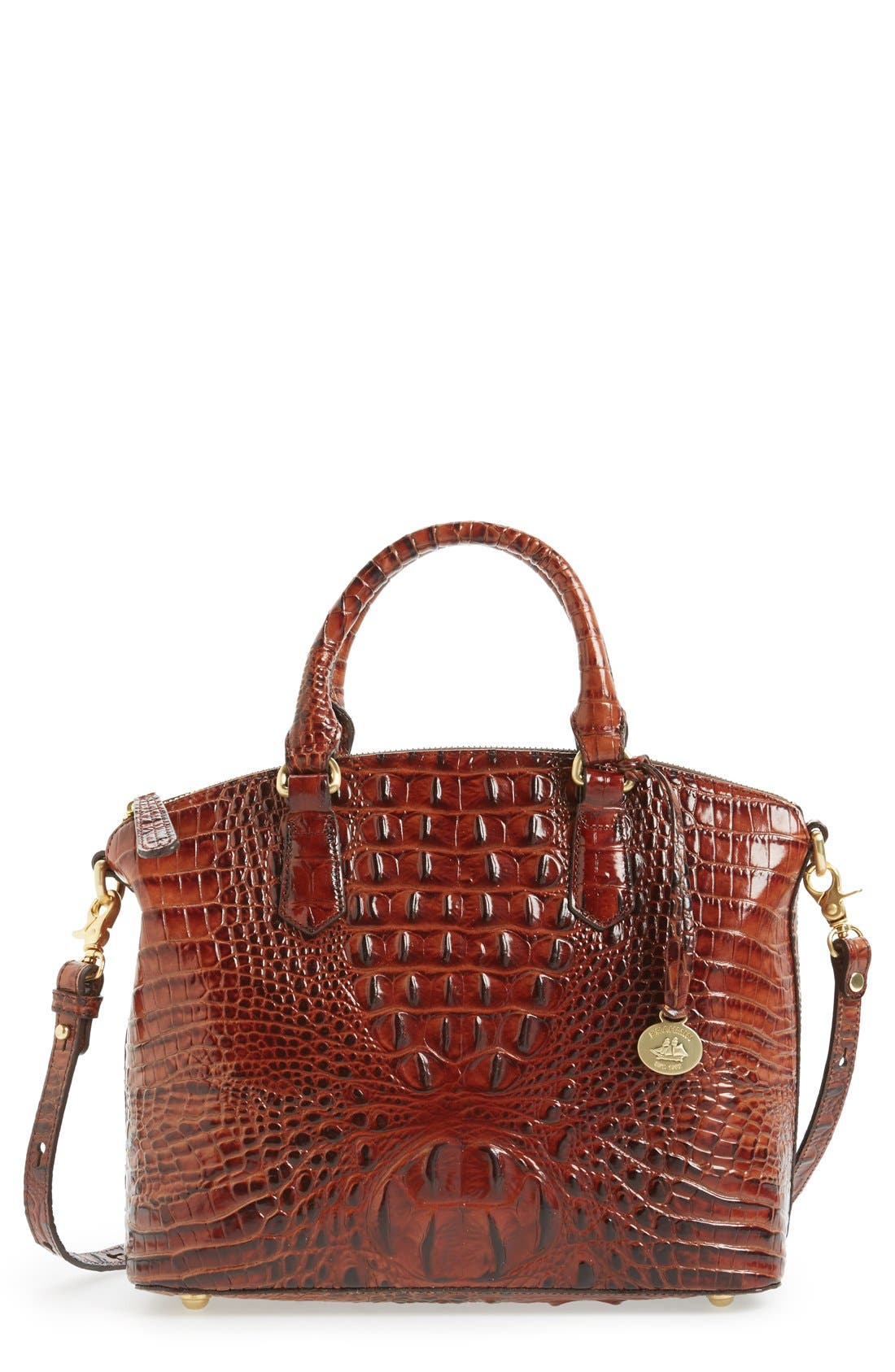 Main Image - Brahmin 'Medium Duxbury' Croc Embossed Leather Satchel