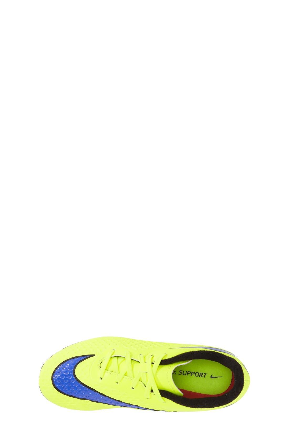 Alternate Image 3  - Nike 'Hypervenom Phelon FG' Soccer Cleat (Toddler, Little Kid & Big Kid)