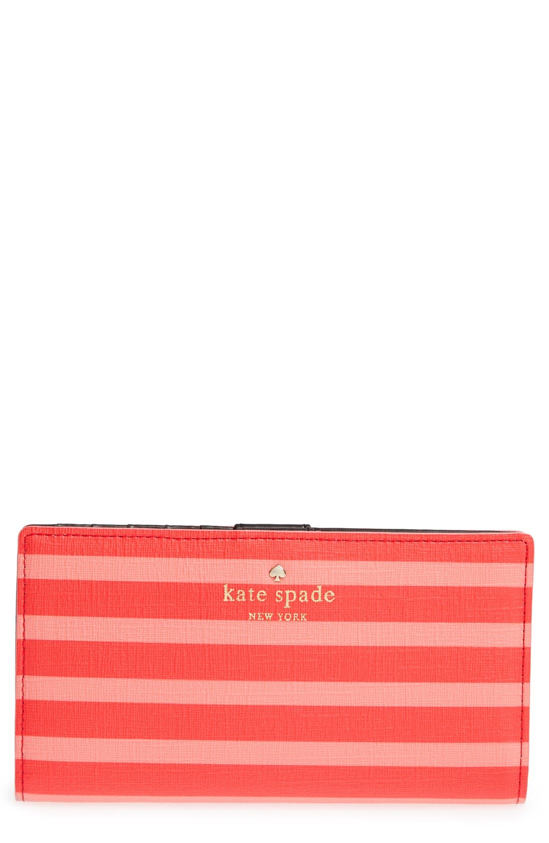 Main Image - kate spade new york 'fairmount square - stacy' coated canvas wallet