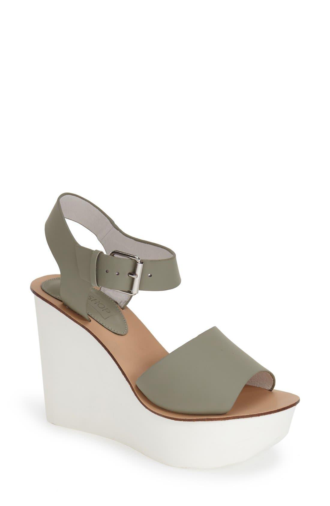 Alternate Image 1 Selected - Topshop Platform Wedge Sandal (Women)