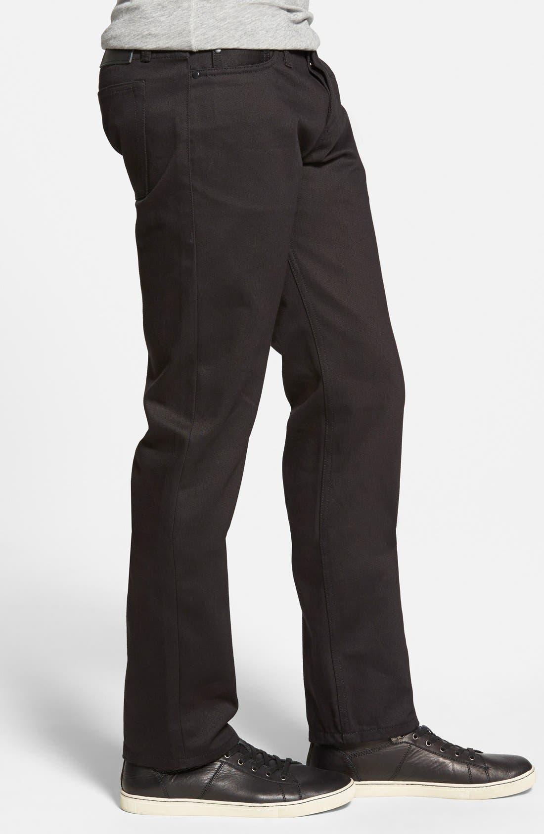 Alternate Image 3  - The Unbranded Brand 'UB255' Slim Tapered Fit Raw Selvedge Jeans (Black Selvedge)