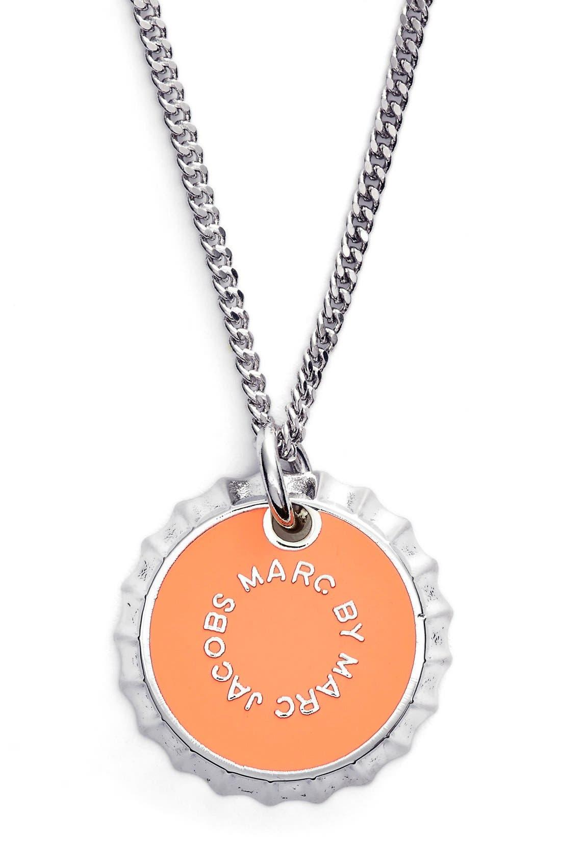 Main Image - MARC BY MARC JACOBS 'Lost & Found' Bottle Cap Pendant Necklace