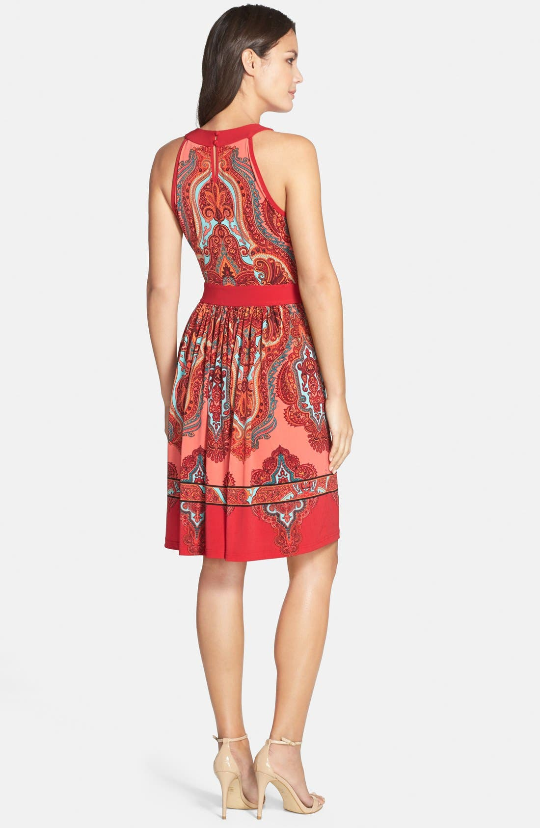 Alternate Image 2  - Adrianna Papell Paisley Fit & Flare Dress