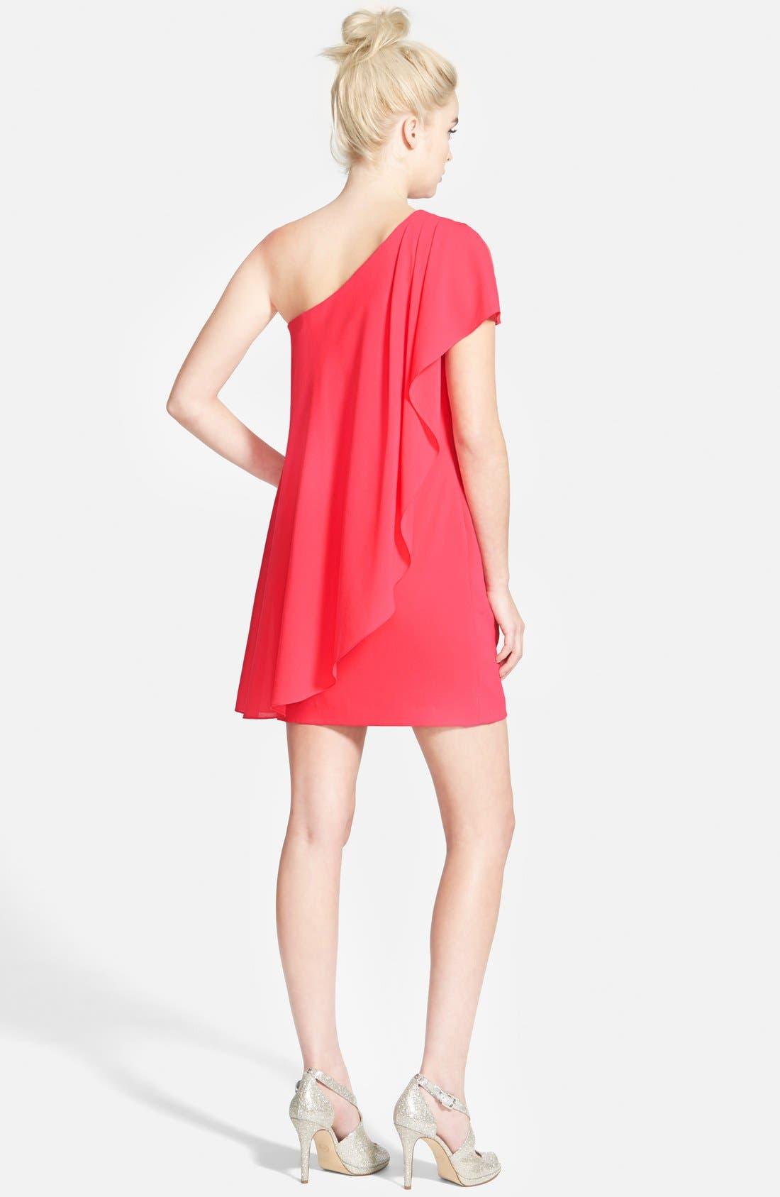 Alternate Image 2  - Aidan by Aidan Mattox One-Shoulder Crepe Dress