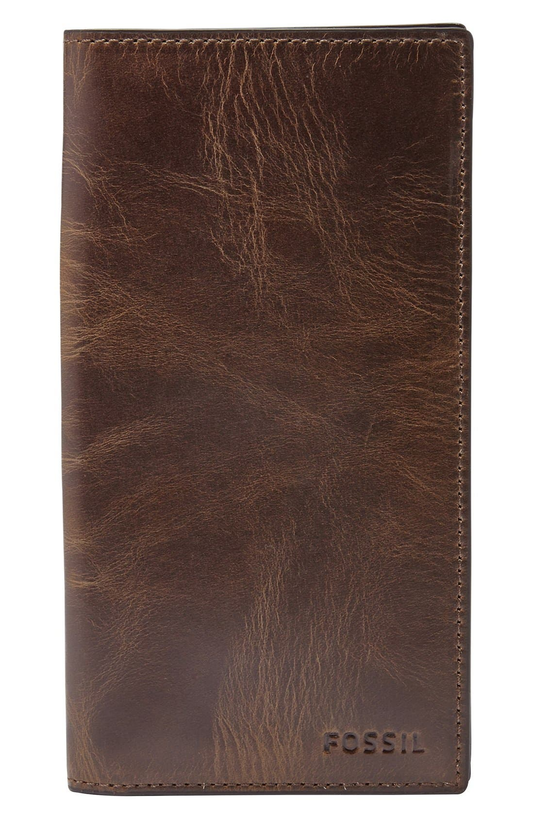 Fossil 'Derrick' Leather Executive Checkbook Wallet