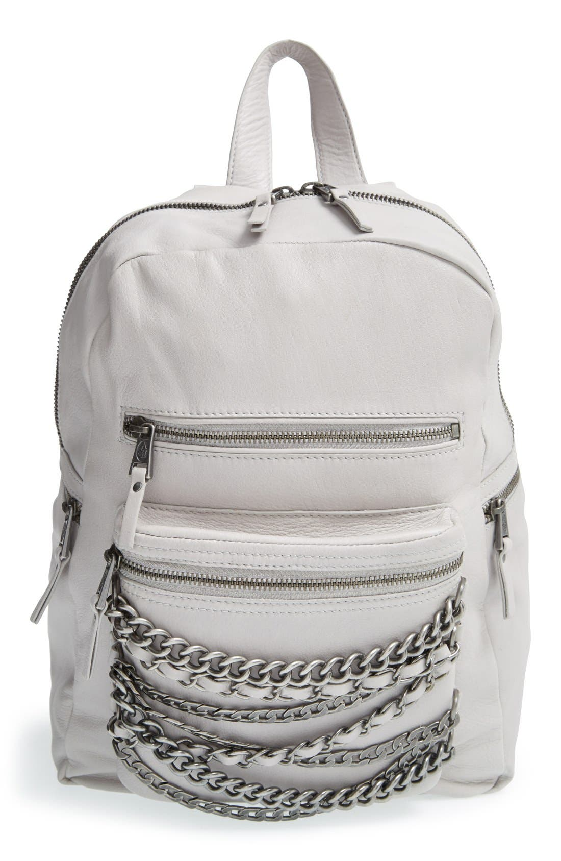 Alternate Image 1 Selected - Ash 'Small Domino' Chain Leather Backpack