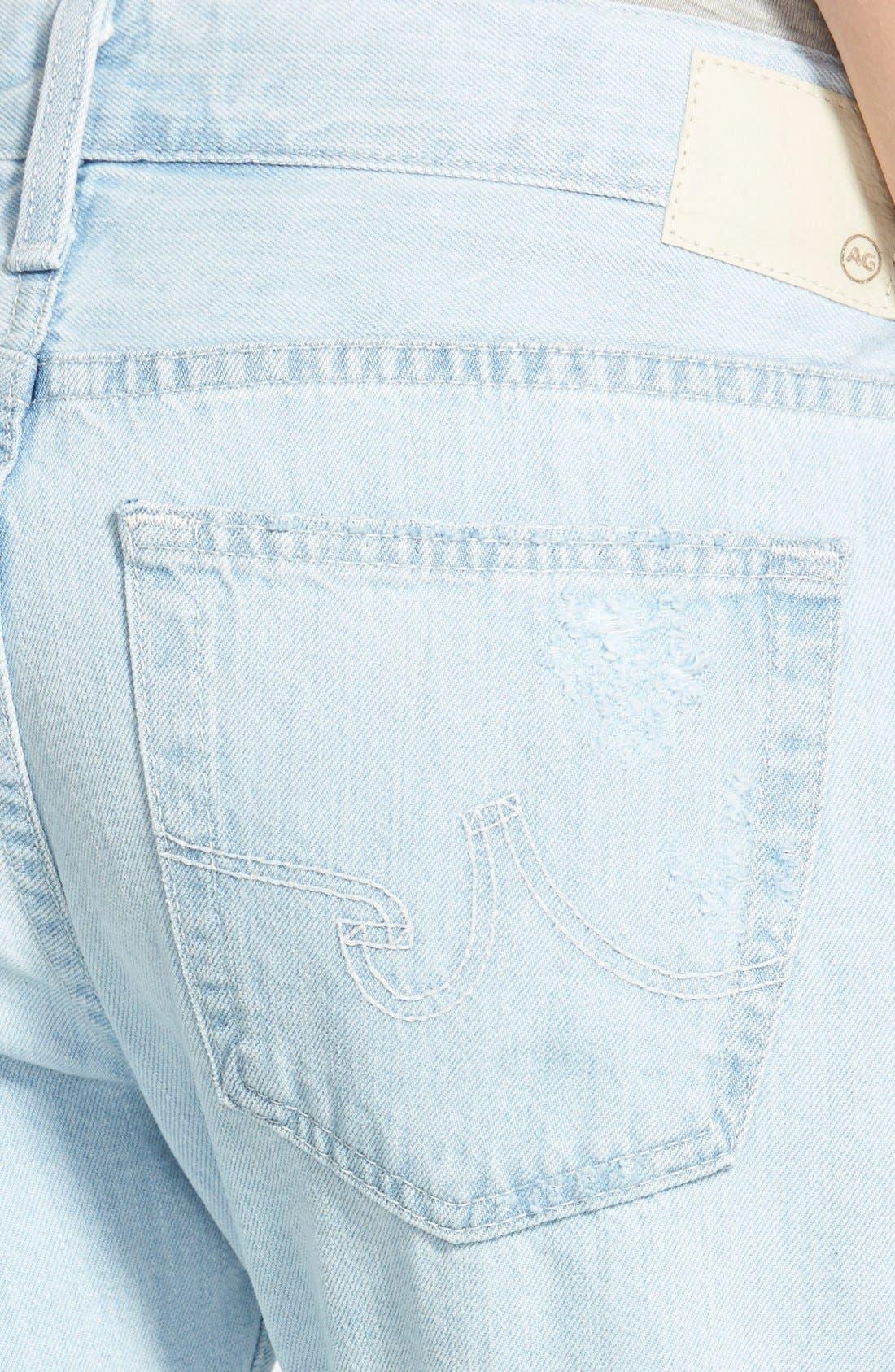 Alternate Image 3  - AG 'Nikki' Relaxed Skinny Crop Jeans (28 Years Shredded)